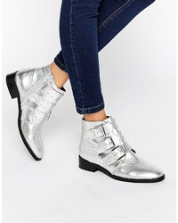 Asos Ashleigh Leather Studded Ankle Boots