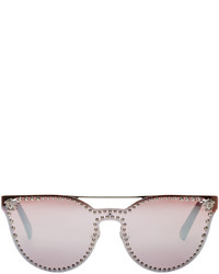 Versace Silver Rock Icons Medusa Studded Sunglasses