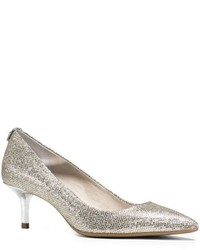 Michael Kors Michl Kors Flex Glitter Leather And Suede Pump