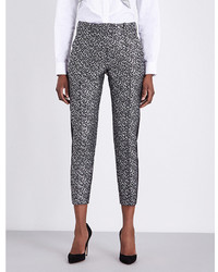 Racil Tuxedo Cropped Metallic Jacquard Trousers