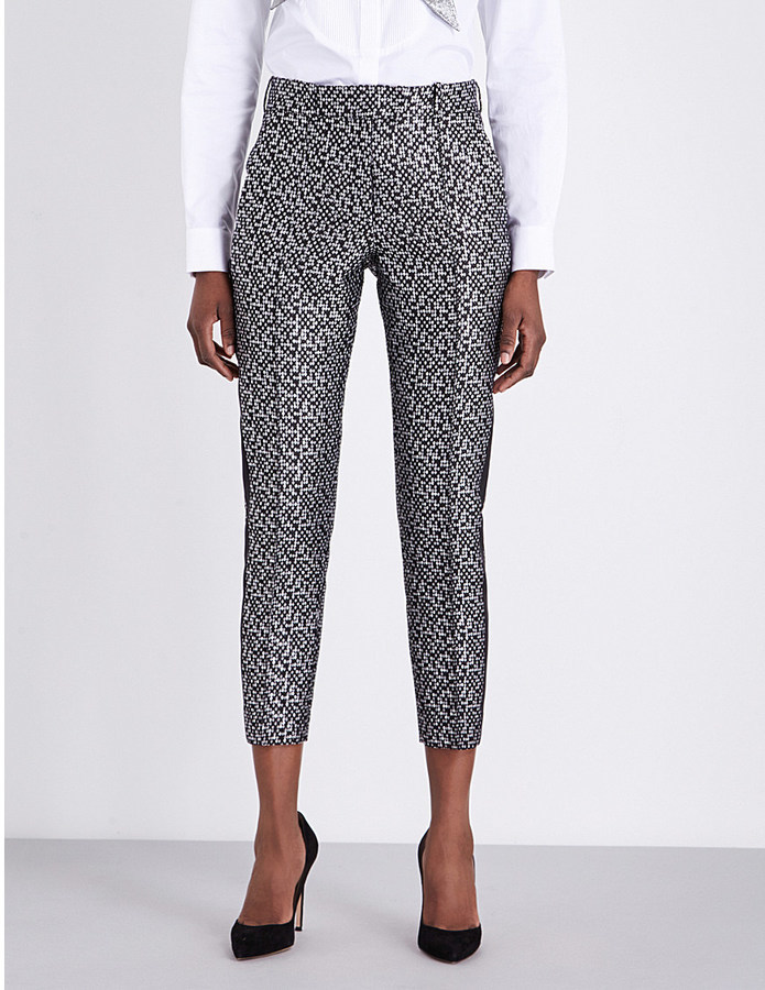 7a664bbe Racil Tuxedo Cropped Metallic Jacquard Trousers, $370 | Selfridges ...