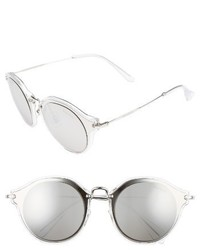 Miu Miu 49mm Cat Eye Sunglasses Brown Gold