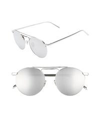 Linda Farrow 51mm Polarized Round Sunglasses