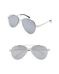 NEM 55mm Mirrored Aviator Sunglasses
