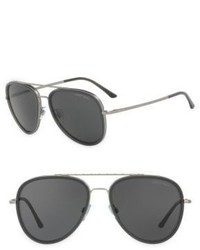 Giorgio Armani 56mm Pilot Sunglasses