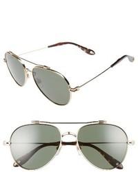 58mm aviator sunglasses gold medium 3655169