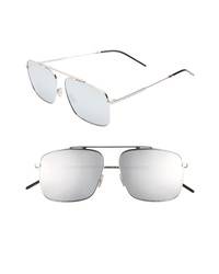 DIOR 58mm Mirrored Navigator Sunglasses