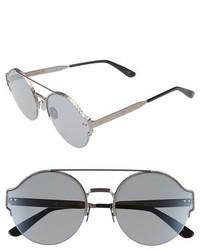 Bottega Veneta 59mm Semi Rimless Sunglasses Silver Silver Grey