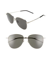 Saint Laurent 60mm Aviator Sunglasses