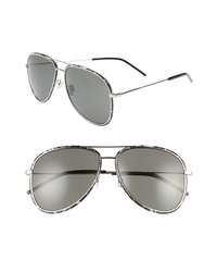 Saint Laurent 61mm Aviator Sunglasses
