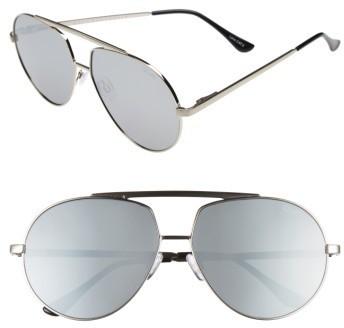 6b853decb0 ... Silver Sunglasses Quay Australia Blaze 68mm Aviator Sunglasses ...