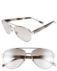 Burberry 57mm Aviator Sunglasses Gold Pink