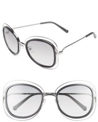 Chloé Chloe Carlina 56mm Gradient Sunglasses Gold Transparent Grey