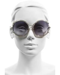 73ce2a92a1ce ... Chloé Chloe Isidora 59mm Round Sunglasses Gold Grey ...