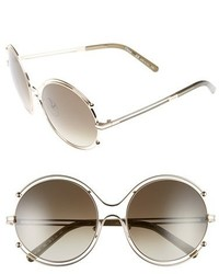Chloe isidora 59mm round sunglasses gold grey medium 5035013