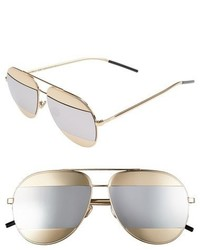 Christian Dior Dior Split 59mm Aviator Sunglasses Dark Gunmetal