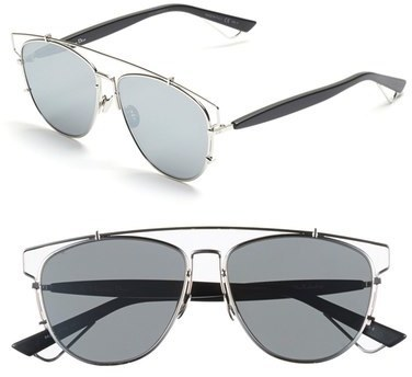 deac452578d3 ... Silver Sunglasses Christian Dior Dior Technologic 57mm Brow Bar  Sunglasses ...