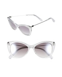 Elizabeth and James Fillmore 52mm Cat Eye Sunglasses Silver Mesh With Smoke One Size