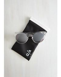 Quay Eyewear Forecast A Glance Sunglasses In Crystal