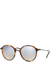Ray-Ban Iridescent Trimmed Round Sunglasses Havana