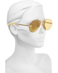 e1aa51382ba Karen Walker Love Hangover 60mm Aviator Sunglasses Silver Clear ...