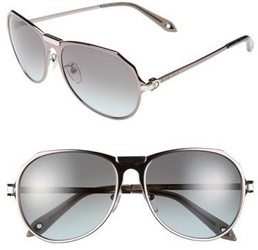 5aa057e556e ... Givenchy Metal Aviator 57mm Sunglasses ...
