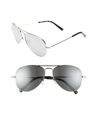 MICHAEL Michael Kors Michl Michl Kors Dylan 58mm Aviator Sunglasses Silver One Size
