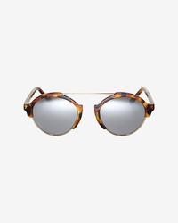 Illesteva Milan Iii Tortoise Mirrored Sunglasses