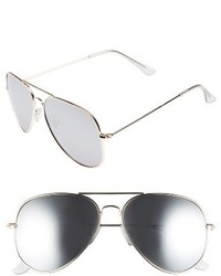 Mirrored Aviator 57mm Sunglasses