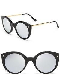 Illesteva Mirrored Palm Beach Sunglasses 49mm