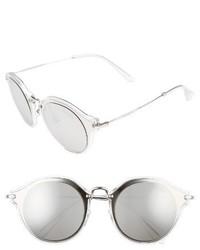 Miu Miu 49mm Cat Eye Sunglasses Brown Gold