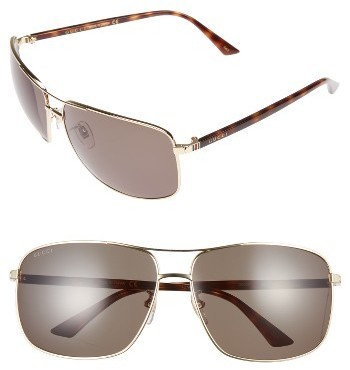 e05422e34f9 ... Silver Sunglasses Gucci Retro Web Caravan 66mm Sunglasses Gold W Havana  Green