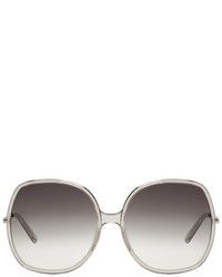 Chloé Silver And Grey Oversized Sunglasses