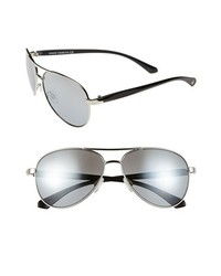 Vince Camuto 60mm Aviator Sunglasses Silver Black One Size