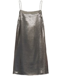Saint Laurent Square Neck Lam Cami Dress
