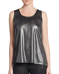 Abel Metallic Cowl Back Top