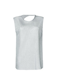 Kacey Devlin Collapse Back Metallic Tank Top