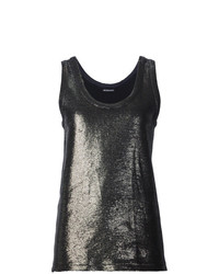 Ann Demeulemeester Metallic Effect Tank Top