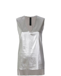 Ilaria Nistri V Neck High Low Tank Top