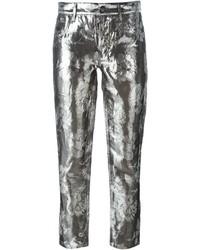 Maison Margiela Metallic Floral Jacquard Trousers