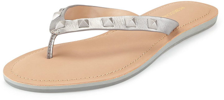 47c1f0bf716 ... Rebecca Minkoff Fiona Studded Thong Sandal Silver ...