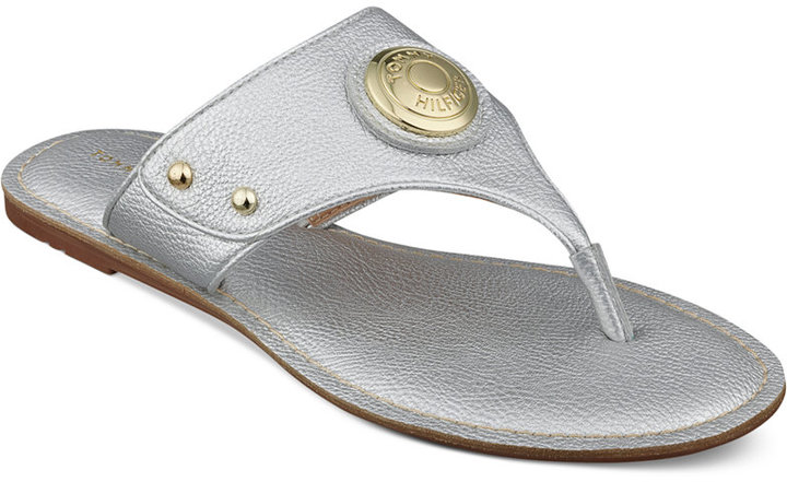 677f34fc2 ... Silver Thong Sandals Tommy Hilfiger Lelani Thong Sandals ...