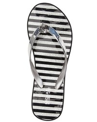 4a5d752341a Michl Michl Kors Bedford Platform Wedge Flip Flop. Silver Thong Sandals by  MICHAEL ...