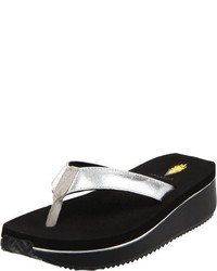 Volatile Cafe Metallic Thong Sandal