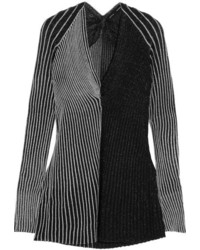 Proenza Schouler Two Tone Ribbed Lurex Sweater Silver