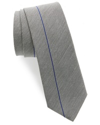 Silver Vertical Striped Tie