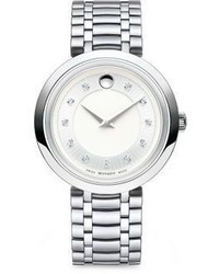 Movado 1881 Round Case Stainless Steel Bracelet Quartz Analog Watch