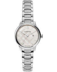 Burberry 32mm Round Stainless Steel Watch