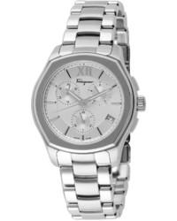 Salvatore Ferragamo 43mm Lungarno Chronograph Bracelet Watch