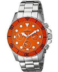 Adee Kaye Ak2322 Org Marinaio Analog Display Japanese Quartz Silver Watch